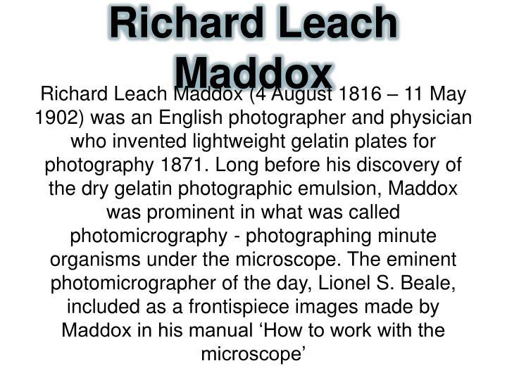 Richard Leach Maddox