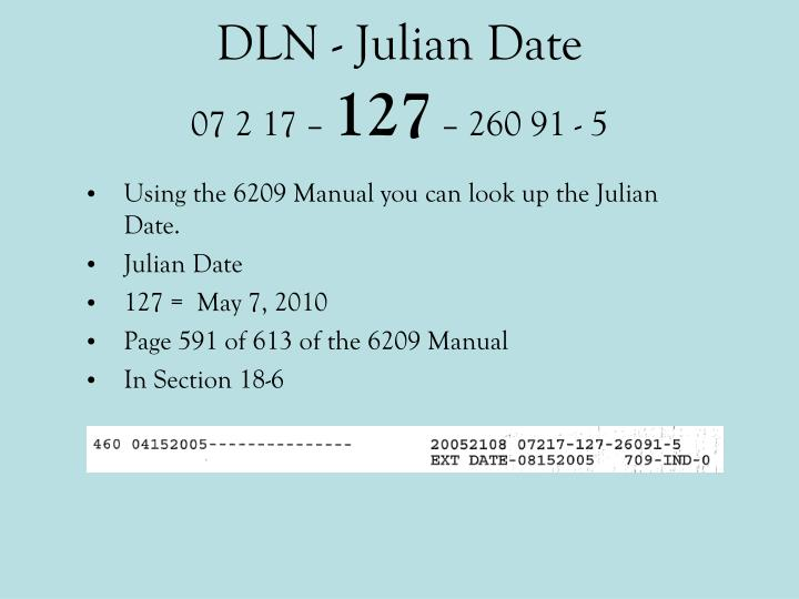 DLN - Julian Date