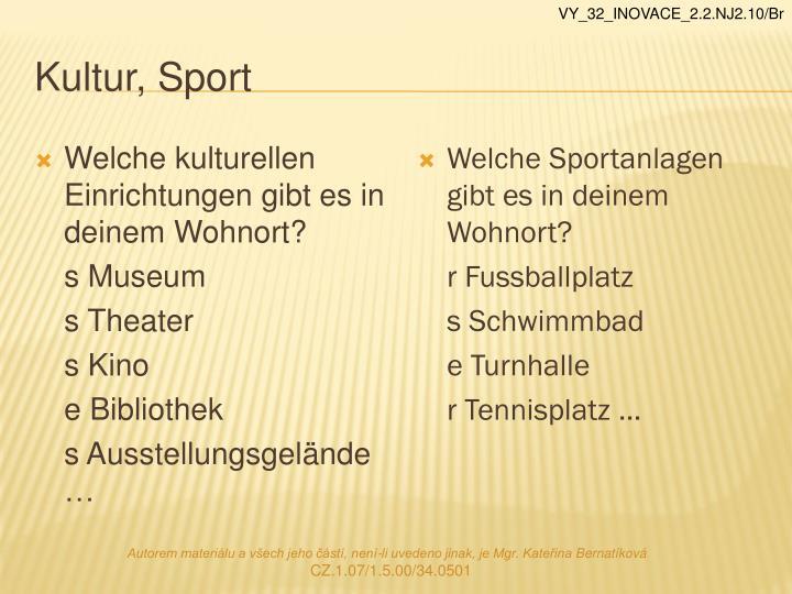 Kultur, Sport