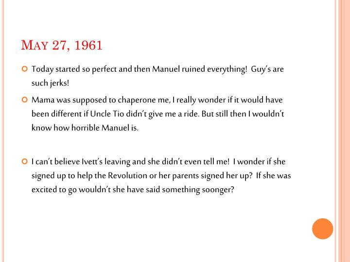 May 27, 1961