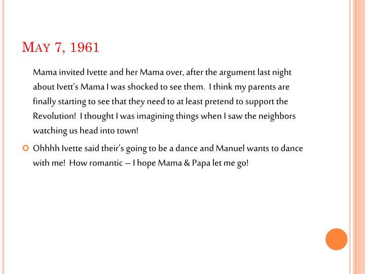 May 7, 1961