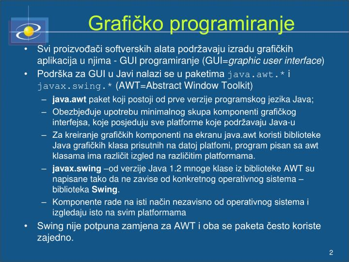 Grafičko programiranje