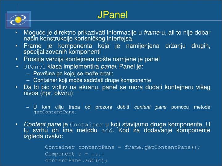 JPanel