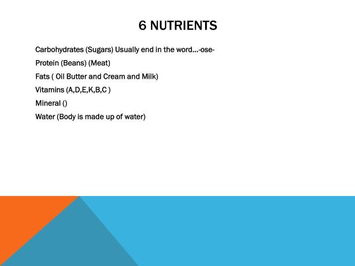 6 Nutrients