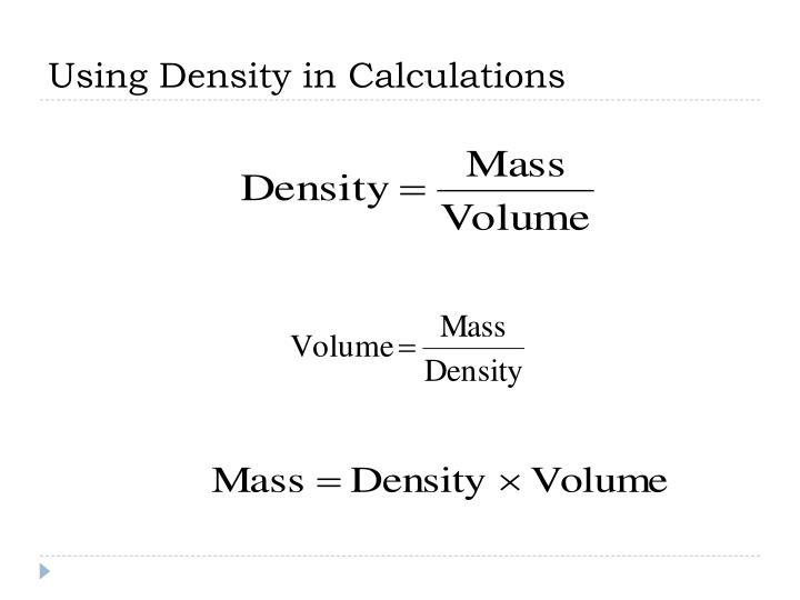 Using Density in Calculations