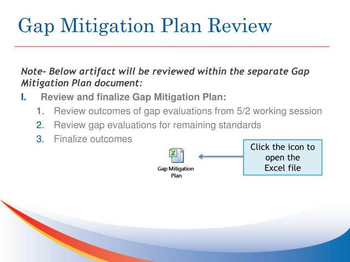 Gap Mitigation Plan Review