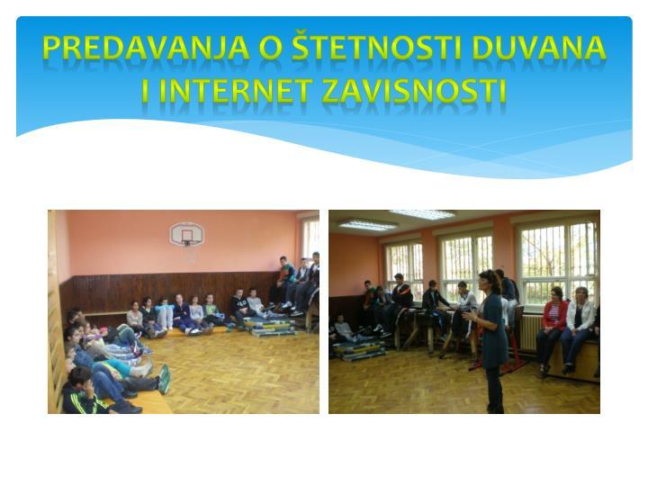 Predavanja o štetnosti duvana i internet zavisnosti