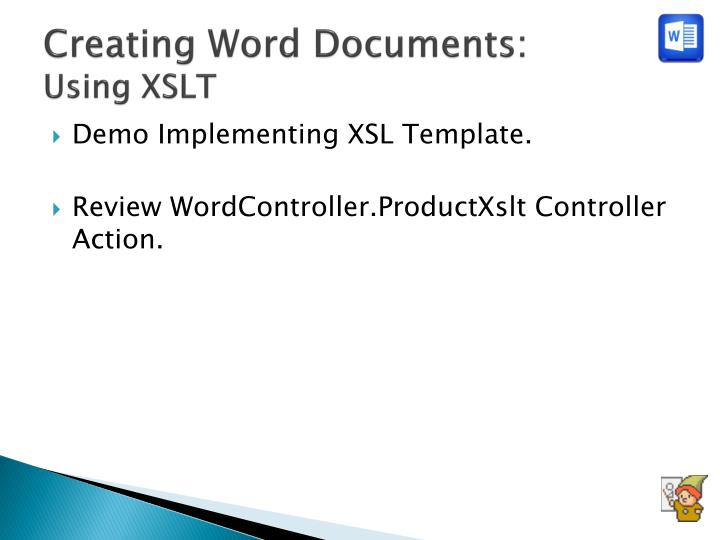 Creating Word Documents: