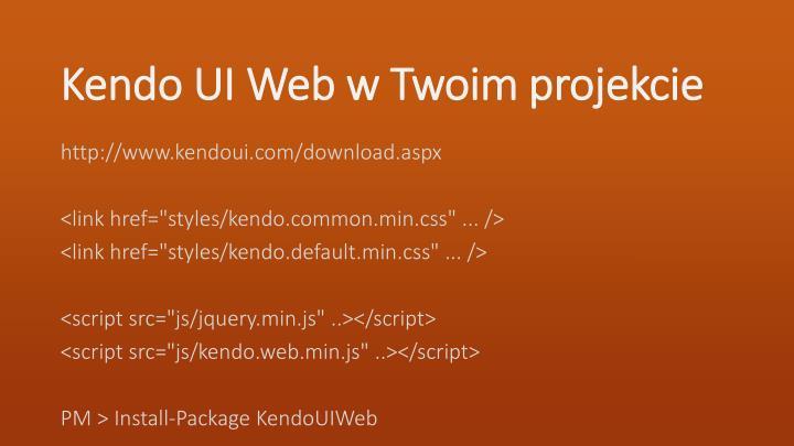 Kendo UI Web w Twoim projekcie