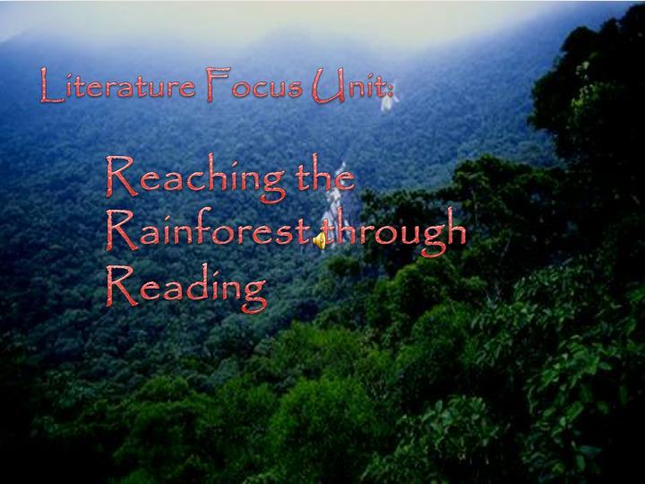 Literature Focus Unit: