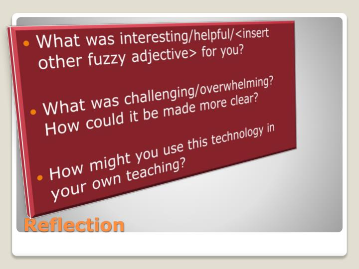 What was interesting/helpful/<insert other fuzzy adjective> for you?