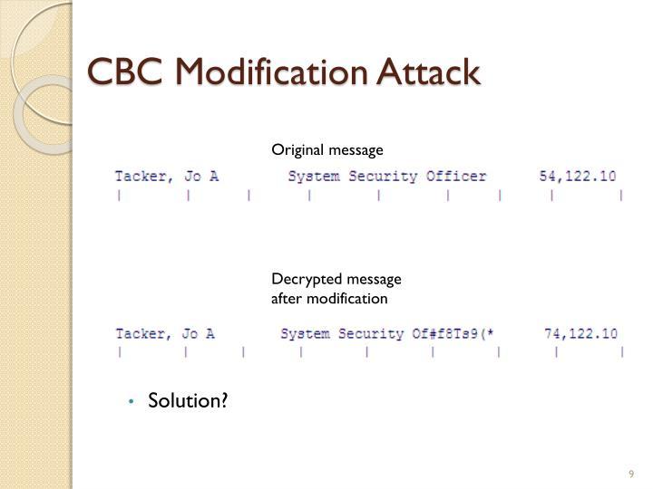 CBC Modification Attack