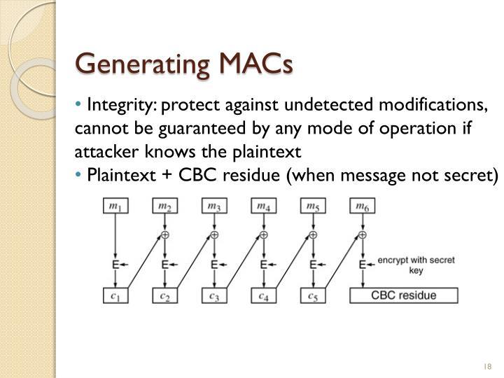 Generating MACs