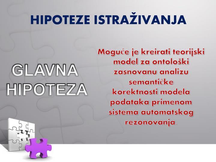 HIPOTEZE ISTRAŽIVANJA