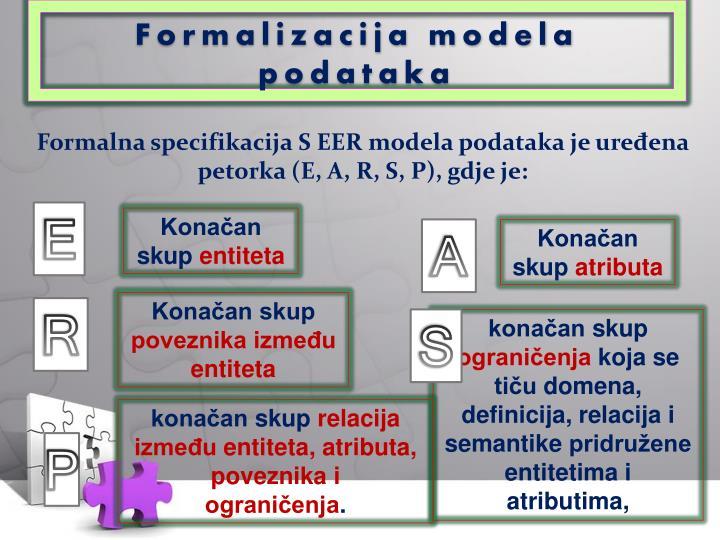 Formalizacija modela podataka