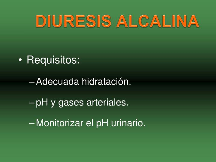 DIURESIS ALCALINA