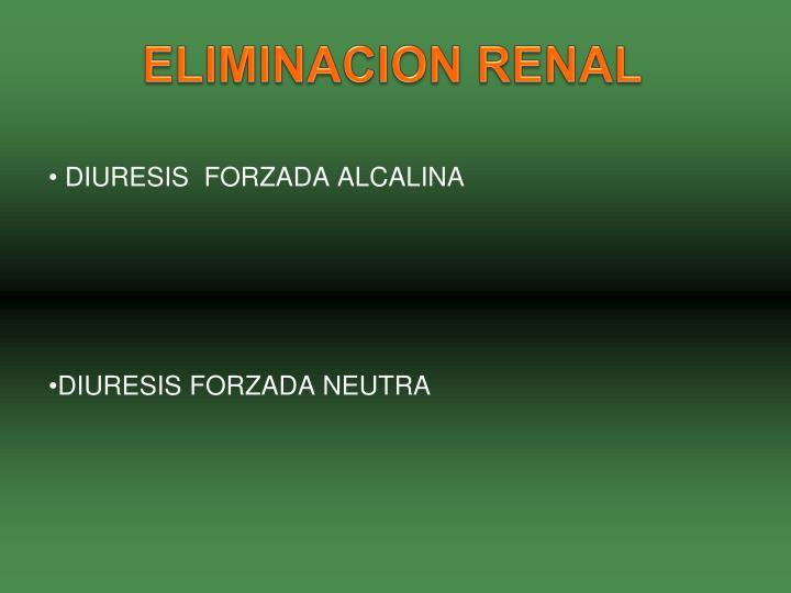 ELIMINACION RENAL