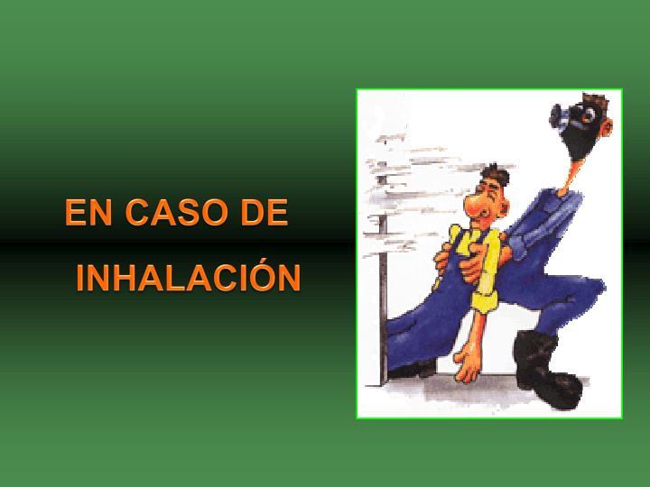 EN CASO DE INHALACIÓN