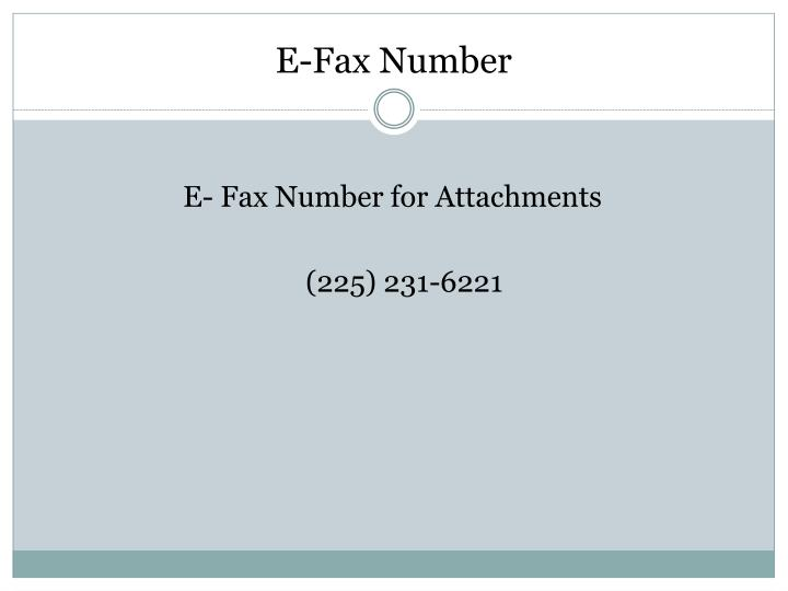 E-Fax Number