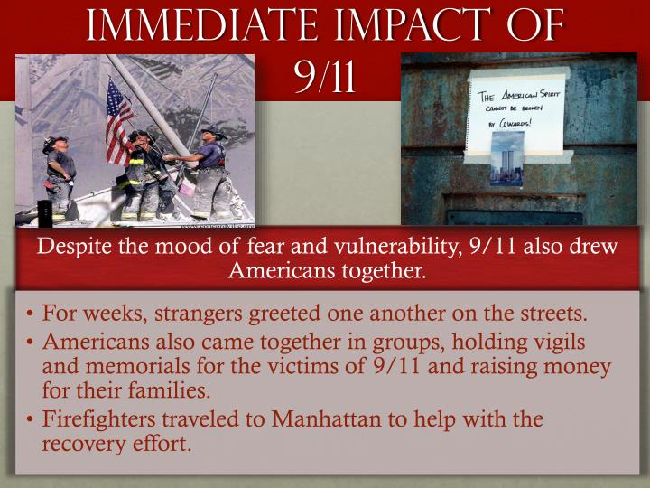 Immediate Impact of 9/11