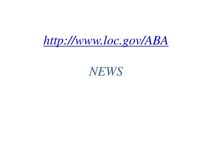 http://www.loc.gov/ABA