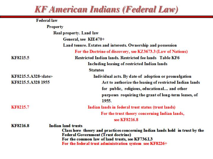 KF American Indians (Federal Law)