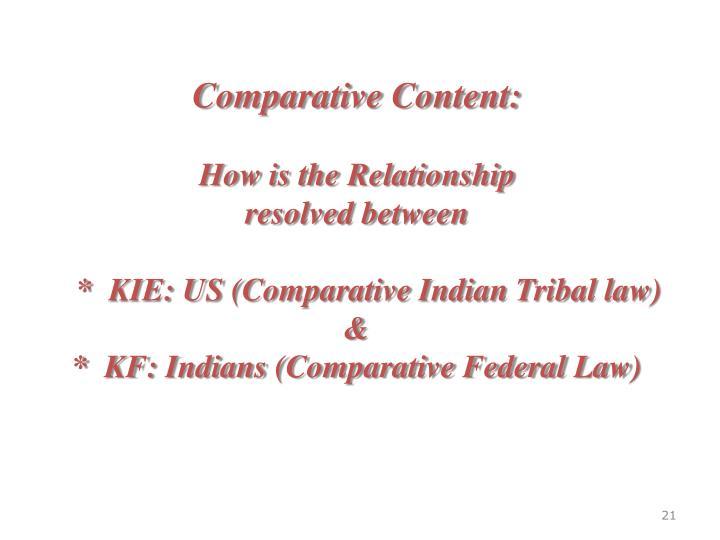 Comparative Content: