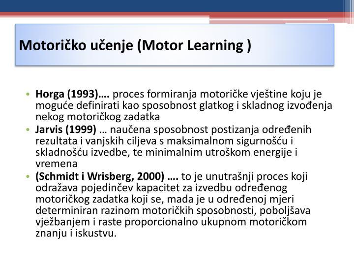 Motoričko učenje (