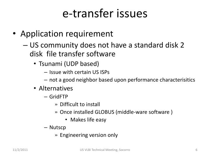 e-transfer issues