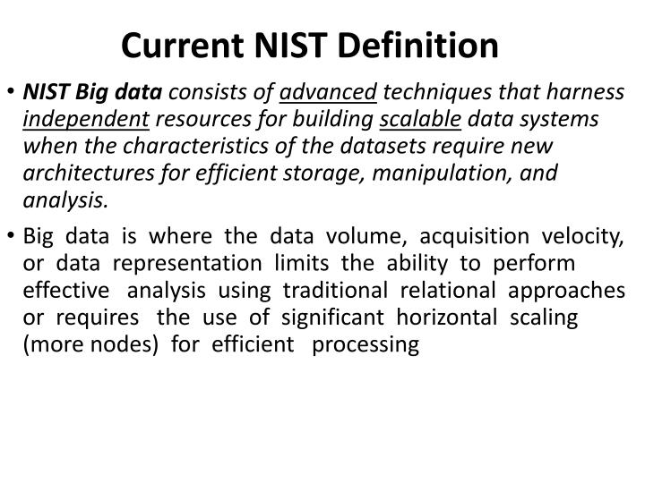 Current NIST Definition