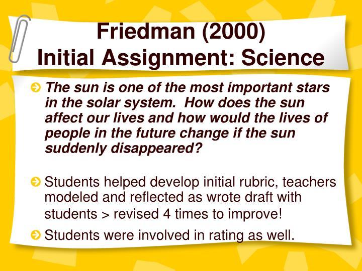 Friedman (2000)