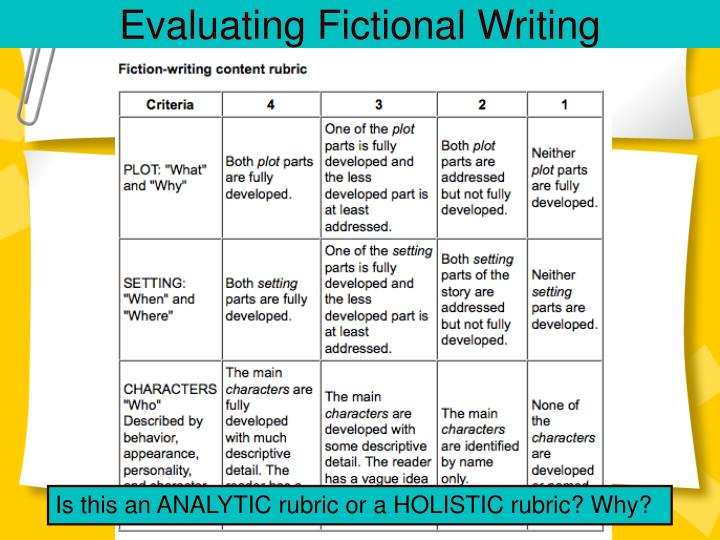 Evaluating Fictional Writing