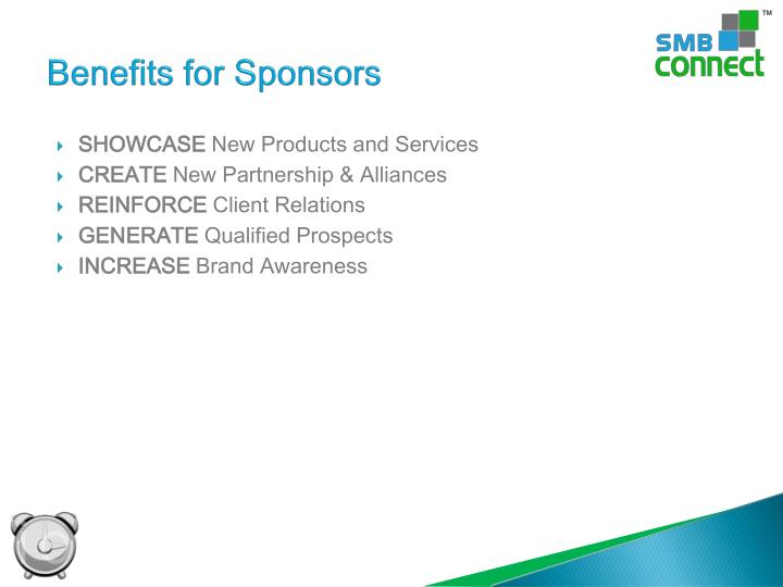 Benefits for Sponsors