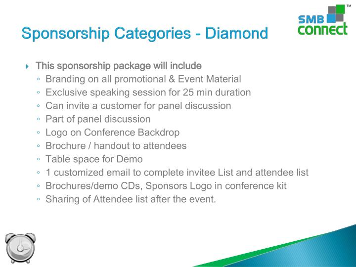 Sponsorship Categories - Diamond
