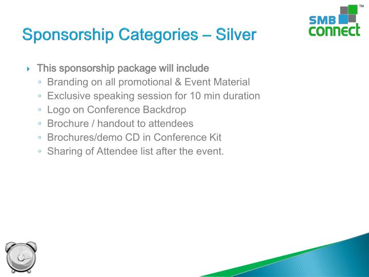 Sponsorship Categories – Silver