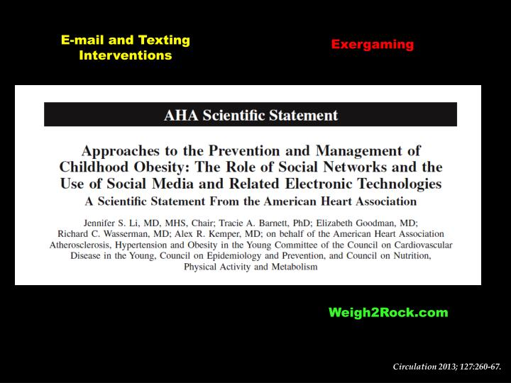 E-mail and Texting Interventions