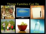 things families can do