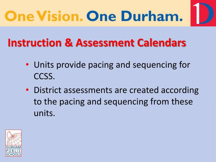Instruction & Assessment Calendars