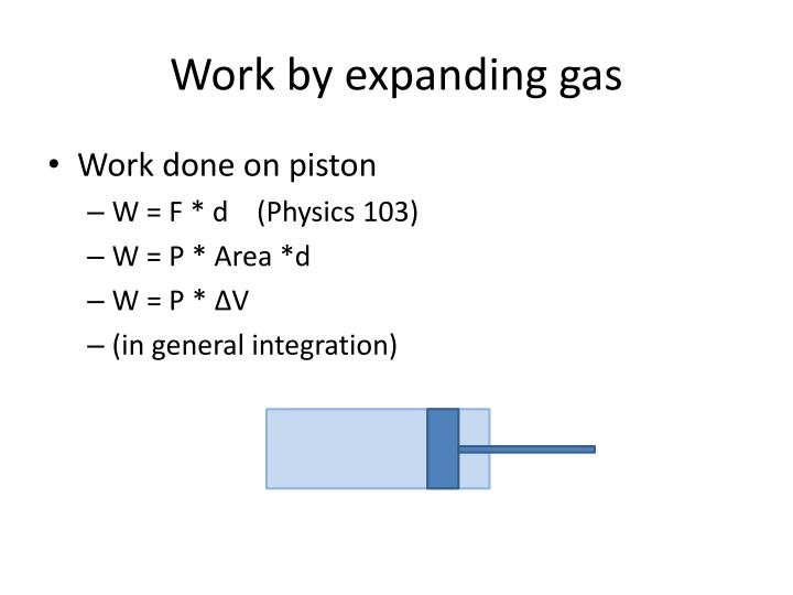 Work by expanding gas