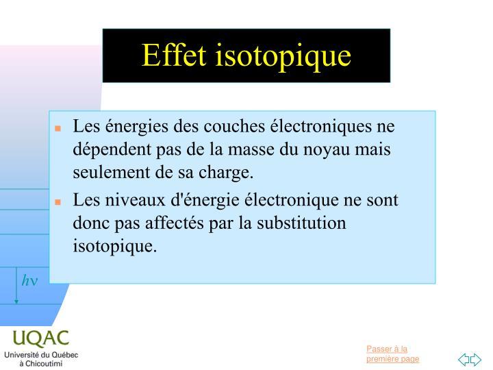 Effet isotopique