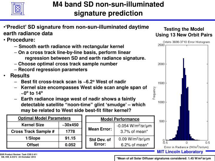 M4 band SD non-sun-illuminated