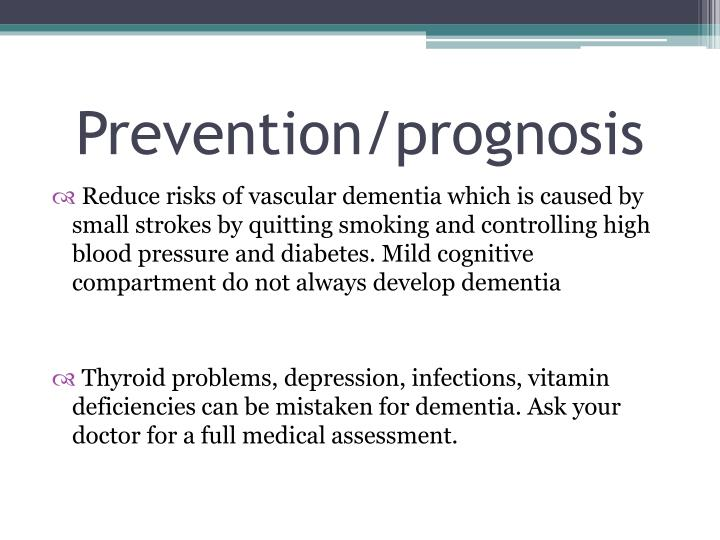 Prevention/prognosis