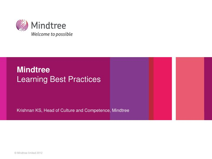 Mindtree learning best practices