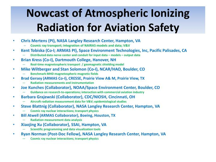 Nowcast of Atmospheric Ionizing Radiation for Aviation Safety