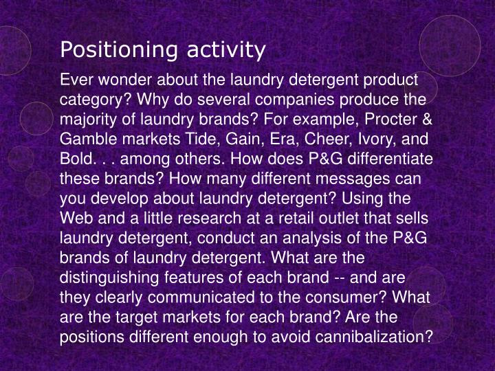 Positioning activity