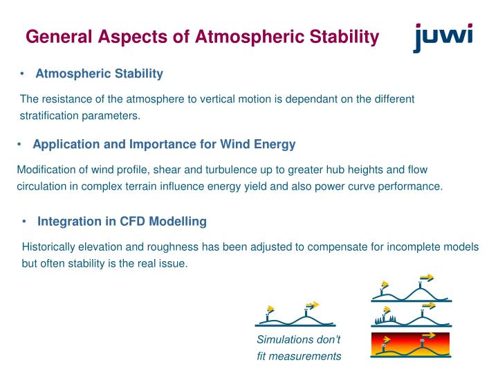 General aspects of atmospheric stability