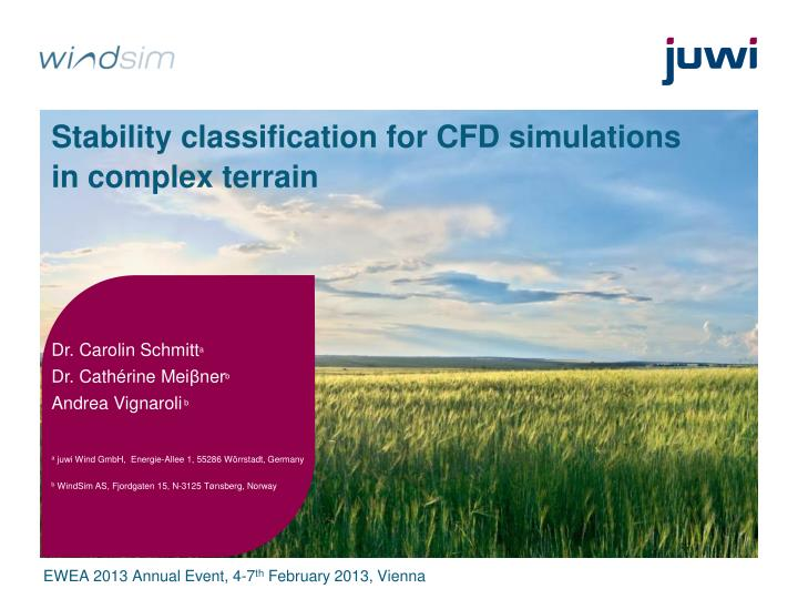 Stability classification for CFD simulations