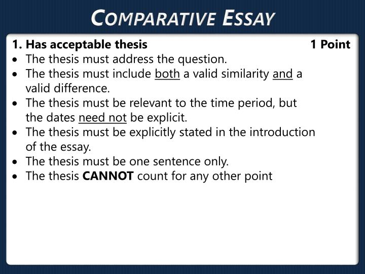 comparison essay of 2 books Comparison and contrast essay is one of the most common assignments in american high schools and universities in this type of essay students have to compare two (in some essays several) things, problems, events or ideas and evaluate their resemblances and differences.