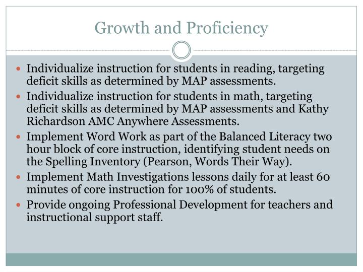 Growth and Proficiency