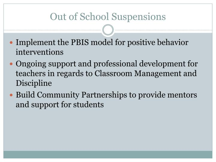 Out of School Suspensions